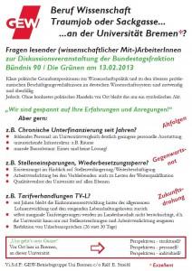 Beruf Wissenschaft - Traumjob oder Sackgasse ... an der Universität Bremen